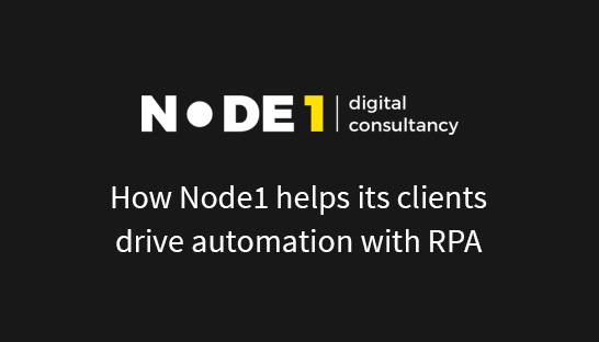Node1 over de implementatie van robotic process automation