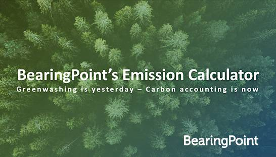 BearingPoint Emission Calculator maakt verduurzaming meetbaar