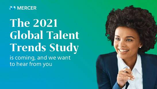 Mercer lanceert survey voor Global Talent Trends Study 2021