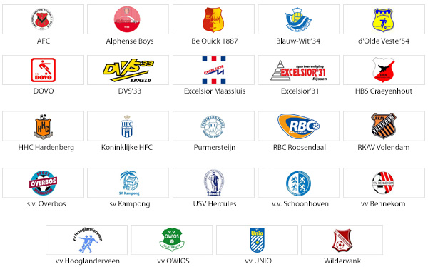 24 voetbalclubs