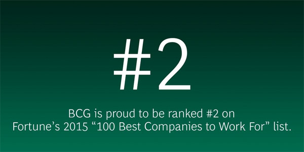 BCG #2 on Fortune 100