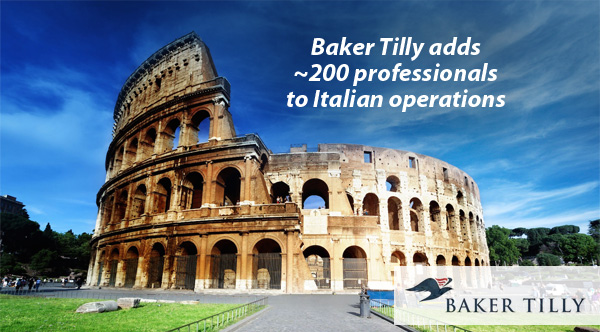 Baker Tilly adds 200 professionals to Italian operations