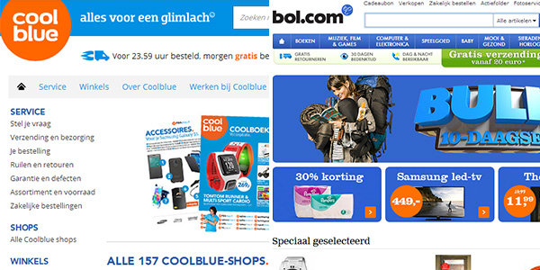 Coolblue en Bol Website