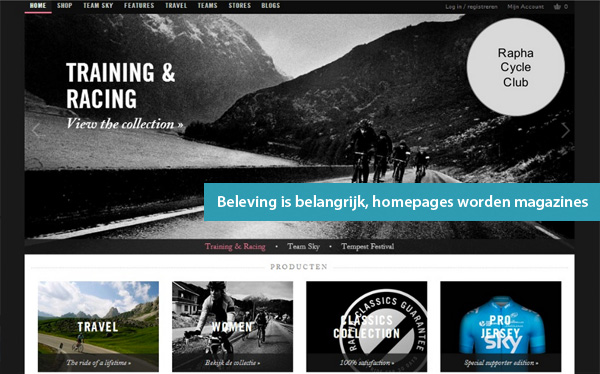 Homepages worden magazines