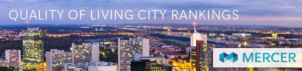 Mercer - Quality of Living City Rankings