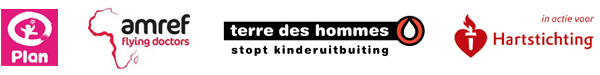 Plan Nederland - Amref Flying Doctors - Terre Des Hommes - Hart Stichting
