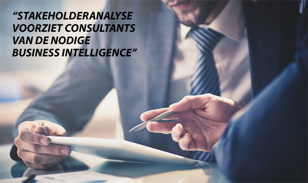 Stakeholderanalyse voorziet consultants van business intelligence