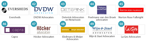 Top 41-50 Advocatenkantoren