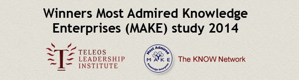 Winnaars Most Admired Knowledge Enterprises-MAKE-onderzoek 2014