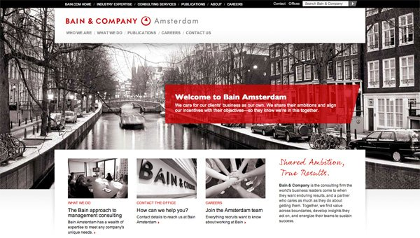 Bain.nl website